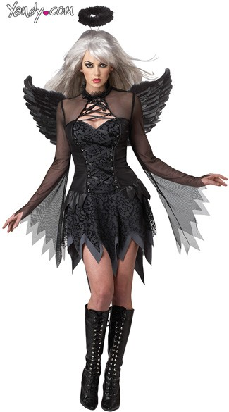 Fallen Angel Costume - Black