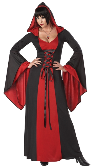 Red Hooded Robe Costume, Sexy Robe Costume, Witch Costume