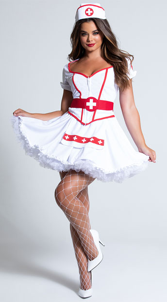 Heart Breaker Nurse Costume - White