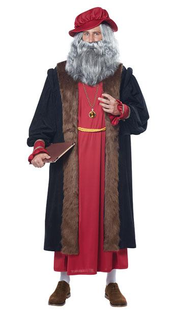 Leonardo Da Vinci Costume - Red/Black