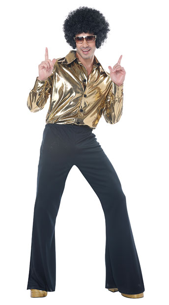 Men's Disco King Costume - Gold