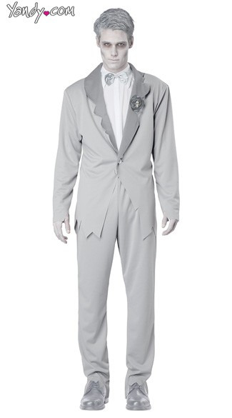 Ghostly Groom Costume - Grey