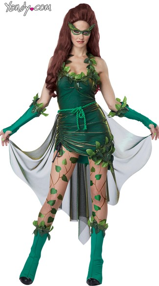 Lethal Beauty Costume, Womens Ivy Costume, Ivy Superhero Costume, Ivy Villain Costume