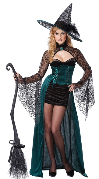 Evening Enchantress Costume, Green Witch Costume, Wicked Witch Costumes