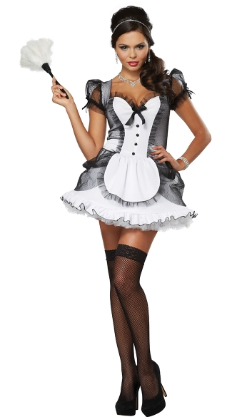Plus Size Down and Dirty French Maid Costume, Plus Size Sexy French Maid Costume, Plus Size Role Play Costumes