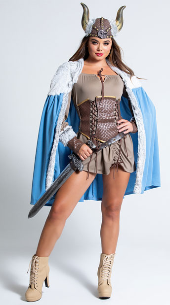 Sexy Viking Costume - as shown