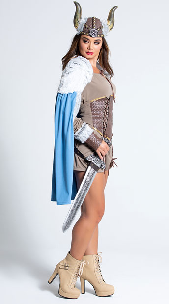 Sexy Viking Costume - Brown