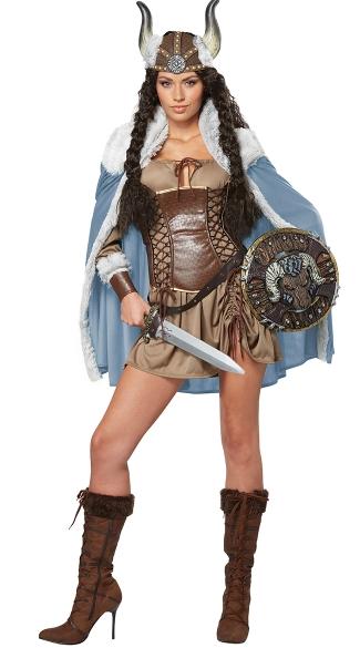 Sexy Viking Costume - Brown