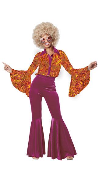 Funky Disco Diva Costume - Gold