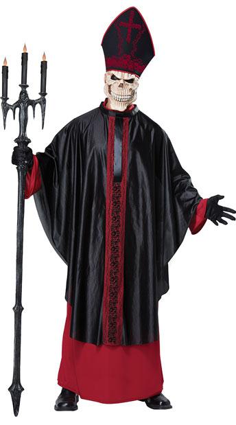 Men's Black Mass Costume - Red/Black