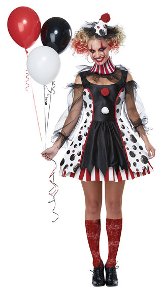 Twisted Clown Costume, Crazy Clown Costume - Yandy.com