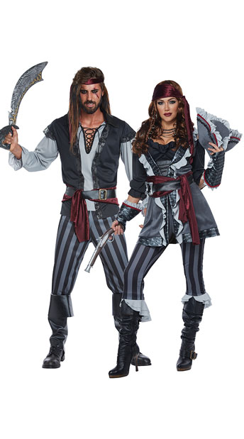scallywag pirates couples costume