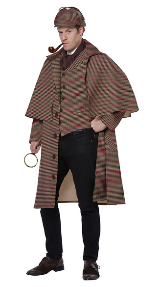 Men\'s English Detective Costume, Men\'s Sherlock Holmes Costume - Yandy.com