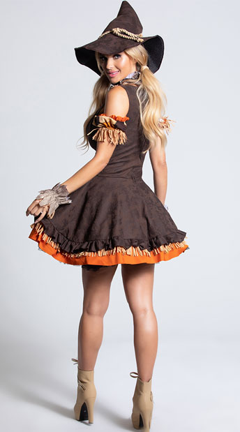 Sassy Scarecrow Costume - Brown