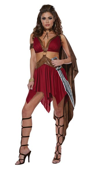 Warrior Goddess Costume, Gladiator Warrior Costume - Yandy.com