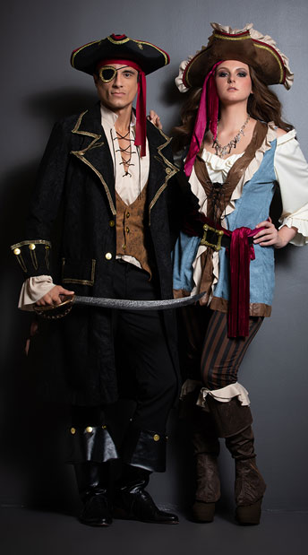 Pirate Rulers Couples Costume Plus Size Jewel Of The Sea Costume