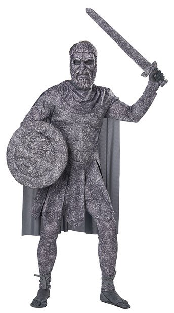 Men's Turned To Stone Costume - Gray