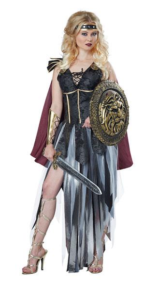 Glamorous Gladiator Costume - Black