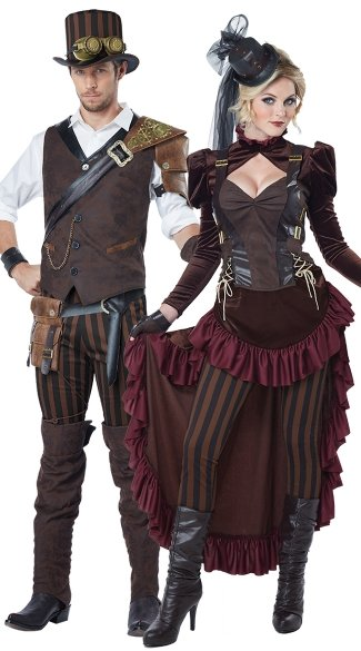 Victorian Steampunk Hottie Costume, Sexy Steampunk Costume ...