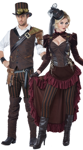 Victorian Steampunk Couple Costume - as shown