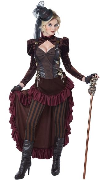 Victorian Steampunk Hottie Costume - Brown