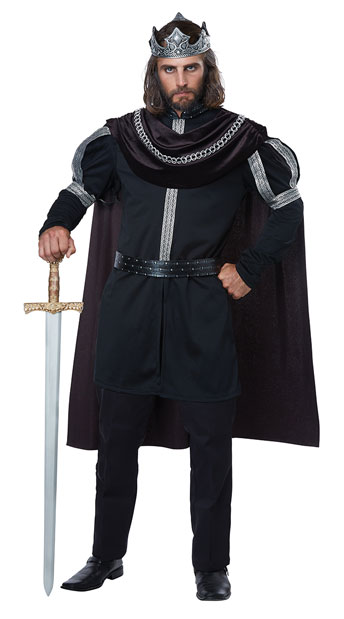 Men's Dark Monarch Costume - Black/Silver