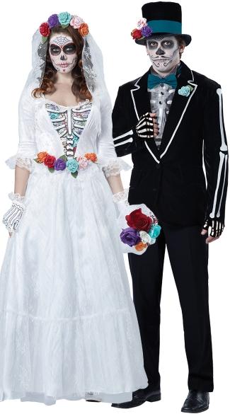 La Novia Muerta Couple Costume - as shown