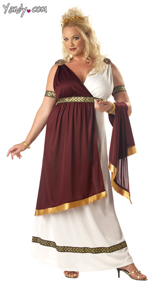 Plus Size Roman Empress, Plus Size Spartan Costume, Womens Plus Size Greek Costume