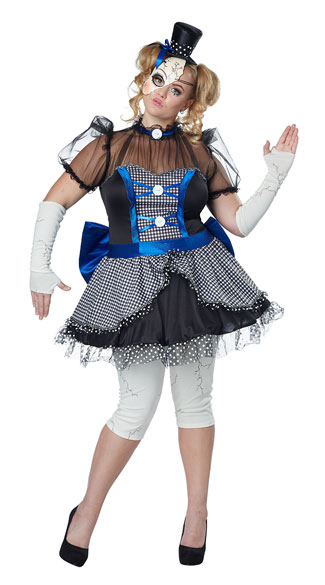 Plus Size Twisted Baby Doll Costume, Plus Size Porcelain Doll Costume, Plus Size Doll Costume