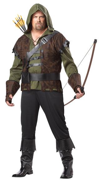 Plus Size Men's Robin Hood Costume - Olive