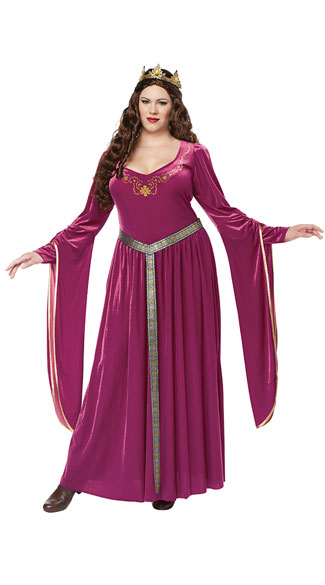 Plus Size Pretty Lady Guinevere Costume, Plus Size Guinevere Costume, Plus Size Queen Costume