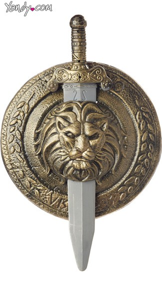 Gladiator Combat Shield and Sword - Gold/Silver
