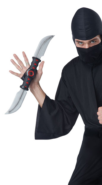 Stealth Strike Ninja Sword - Black/Silver/Red