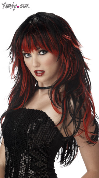 Tempting Tresses Wig goth, gothic, witch, vampire, vamp, sexy, two tone