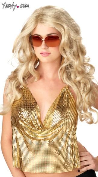 Sexy Super Model Wig - Blonde