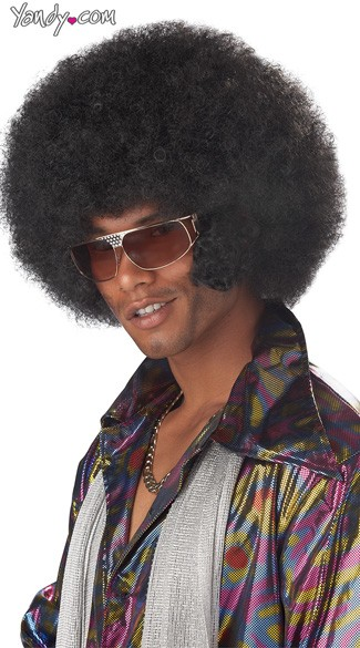Afro Chops Wig, Mens Afro Wig, 70s Pimp Wig