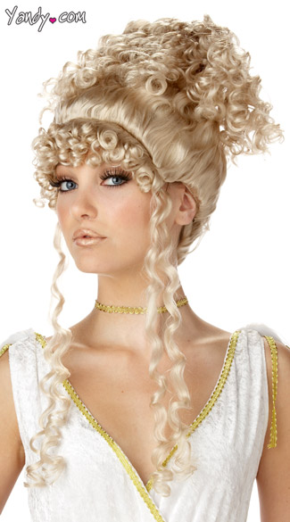 Blond, Athenian, Greek, Goddess, Wig, curly