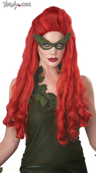 Lethal Beauty Wig, Red Costume Wig, Curly Mermaid Wig