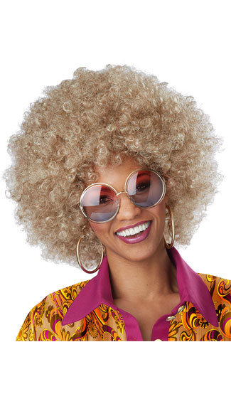 Blande Foxy Lady Wig, Blonde Afro Wig, Curly Afro Wig-8674