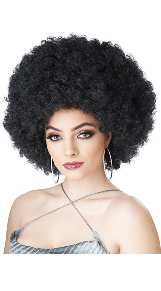 Foxy Lady Wig, Black Afro Wig, Curly Afro Wig-3969