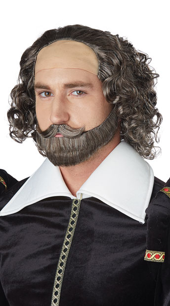 Shakespeare Wig - Brunette/Grey