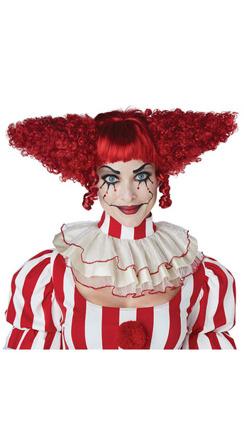 Red Creepy Clown Wig - as shown