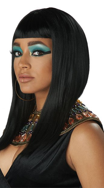 Angular Egyptian Cut Wig - Black