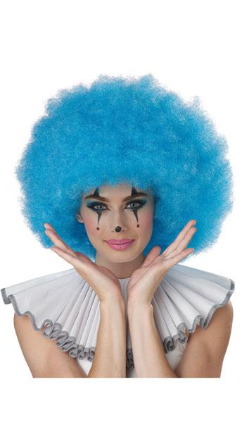 Neon Blue Jumbo Afro Wig - Blue