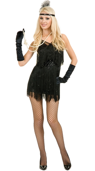 Sexy flapper halloween costume