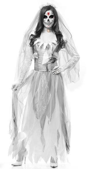 Ghost Bride Costume - Gray