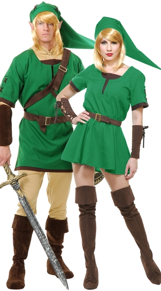 Elf Warrior Couples Costume - as shown