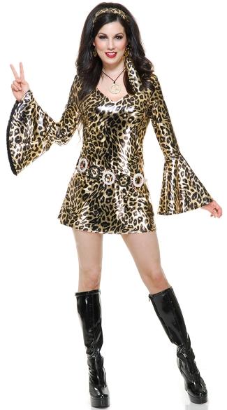 Leopard Disco Diva Costume Sexy 70s Costume Sexy Disco