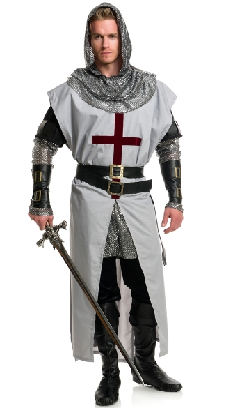 Men\'s Chivalrous Knight Costume, Men\'s Medieval Costume, Men\'s Warrior Costume