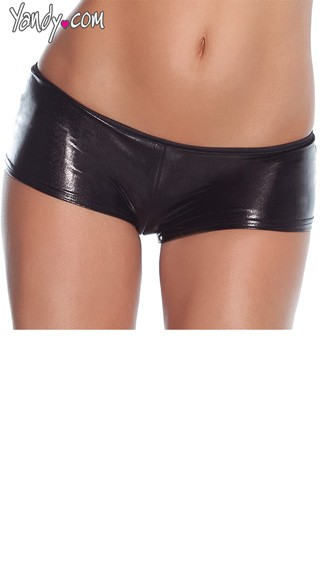 Plus Size Wet Look Booty Shorts, Plus Size Booty Shorts, Plus Size Black Shorts